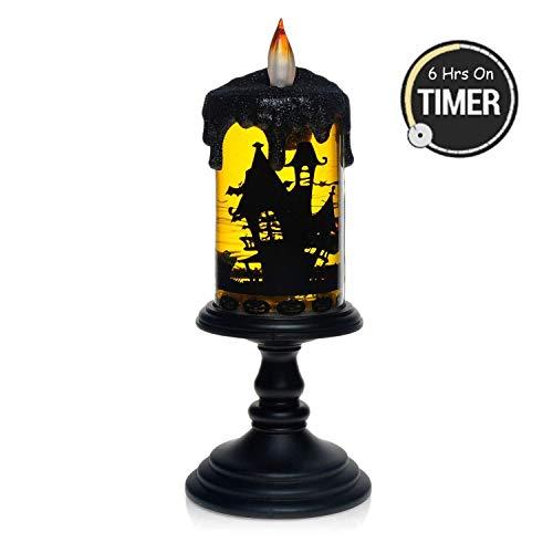 simpdecor Halloween Bat Tornado LED Beleuchtung flammenlose Kerze mit Timer, batteriebetriebene Tabelle Herzstück für Home und Party