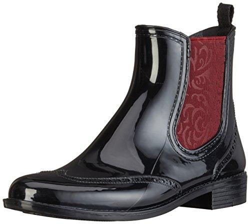 Mustang Damen 3121-501 Gummistiefel, Schwarz (95 Schwarz/Rot), 38 EU