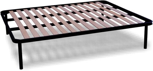 Apple Fixed Slatted Bed Base Double Size - 4ft6