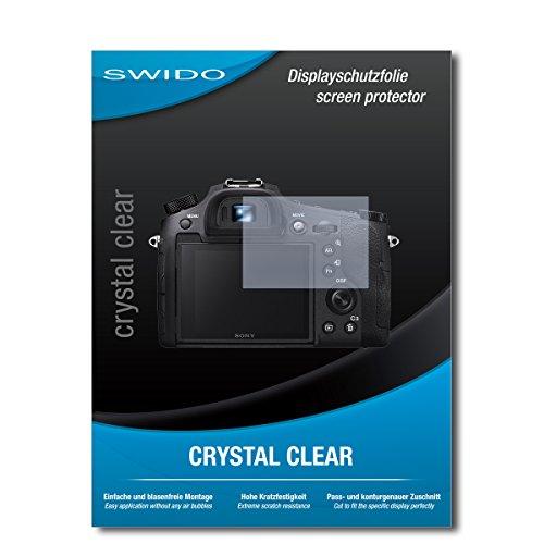 SWIDO Schutzfolie für Sony Cybershot DSC-RX10 IV [2 Stück] Kristall-Klar, Hoher Härtegrad, Schutz vor Öl, Staub und Kratzer/Glasfolie, Displayschutz, Displayschutzfolie, Panzerglas-Folie