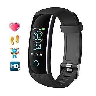 Pulsera de Actividad Inteligente Relojes Deportes con Pulsómetro Pulseras Actividad Deportiva Impermeable IP68 Pantalla a Color Monitor Cardiaco Reloj para Mujer Hombre para iOS y Android