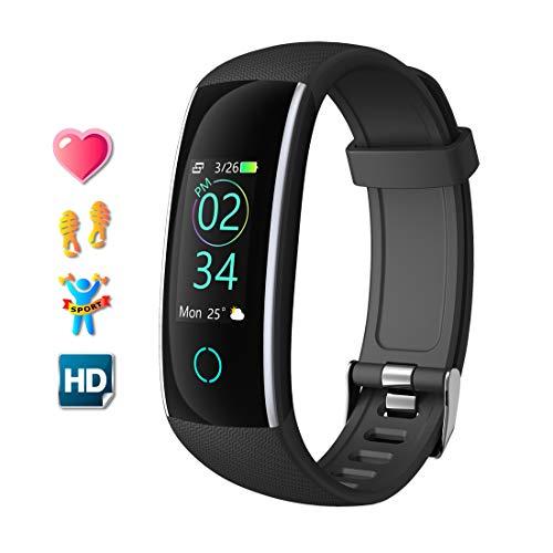 Fitness Tracker Orologio Fitness Braccialetto Activity Trackers Cardiofrequenzimetro da Polso Donna Uomo Impermeabile IP68 Schermo a Colori Watch Orologi Contapassi per Android iOS Smartphone