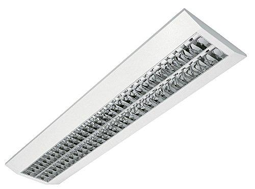LED Rasteranbauleuchte, 46W, 5000lm, 4000K, Büroleuchte, Bürolampe, Aufbauleuchte mit Doppelparabolraster (BAP)
