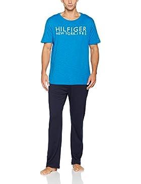 Tommy Hilfiger Herren Schlafanzug Set Ss Short Set Logo