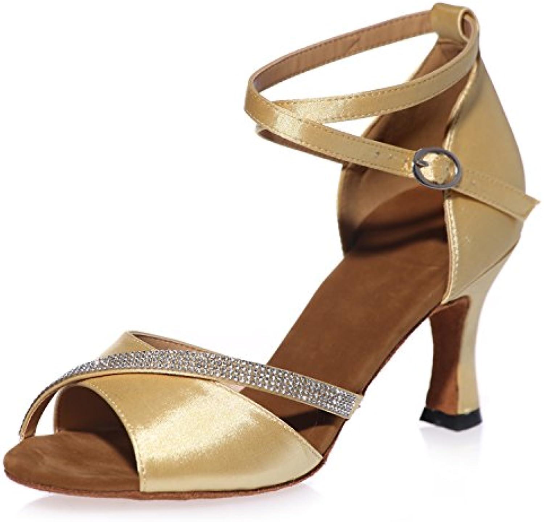 Elobaby Scarpe da Ballo da Donna con Plateau Fibbia Latina Latina Latina Raso Promenade Jazz Classico Latino Tacco 7,5 Cm  ... | Ideale economico  | Uomini/Donne Scarpa  f22bce