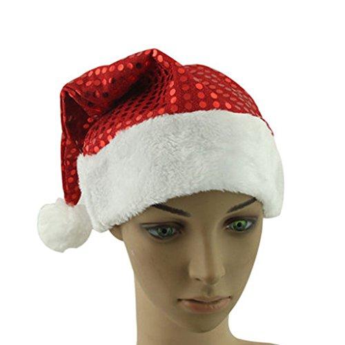 Set de 3 de Noël Chapeau Chapeau de Père Noël pour Noël, Paillette(Adults)