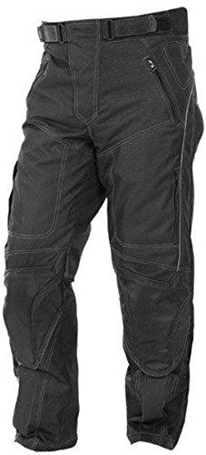 newfacelook Herren Designer Protection Thermique Moto Pantalons Pantalon impermeable, Schwarz, 36W / 34L