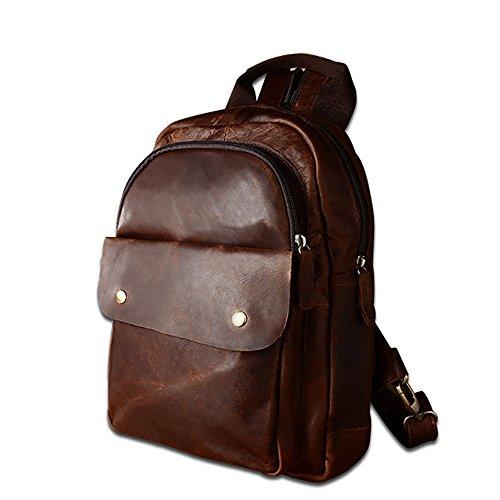 JOYIR fashion style sac à dos pour collège étudiant homme femme randonnée voyage en PU cuir