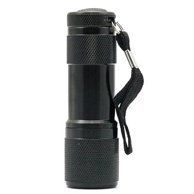 SainStyle 9x LED 400nm UV Flashlight Leuchte Lampe Prüfgerät Taschenlampe von RoboTrader - Lampenhans.de