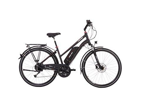 """FISCHER E-Bike TREKKING Damen ETD 1822, Anthrazit, 28\"""", RH 44 cm, Hinterradmotor 48 V/557 Wh, Shimano Deore Schaltung, LCD-Display mit Navi-App"""
