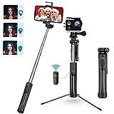 Mpow Bastone Selfie, All in 1 Portatile Estensibile Selfie Stick Treppiede con Bluetooth Remote e Luce di Riempimento, Compatibile per iPhone 11/XS Max/XR/X/ 8/7, Galaxy S10/ S9/S8, Gopro/Fotocamera