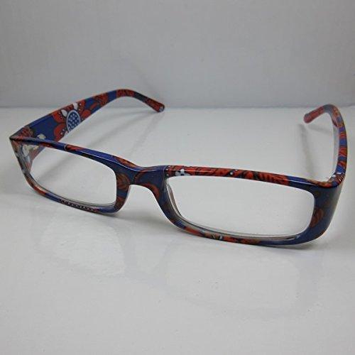 KOST 2er Set schöne Damen Lesebrille schwarz-bunt Fertigbrille Lesehilfe +2,0