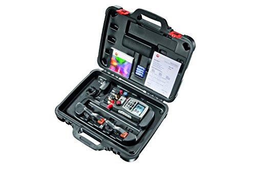 Preisvergleich Produktbild Testo 0563 5702 570-2 Set digitale Monteurhilfe, 4-Wege-Ventilblock, interner Datenspeicher, integrierte Vakuummessung, 3 Temperaturfühler anschließbar