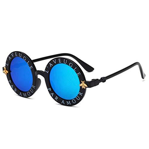 CCGKWW Kind Designer Runde Sonnenbrille Kinder Gold Bee Kinder Brille Uv400 Baby Sommer Brillen Cute Girl Eyewear