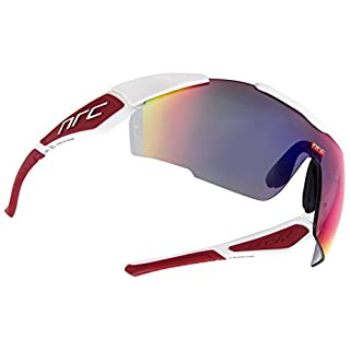 NRC x1 Alpe D 'Huez, Glasses Unisex - Adult, White/Red, One Size