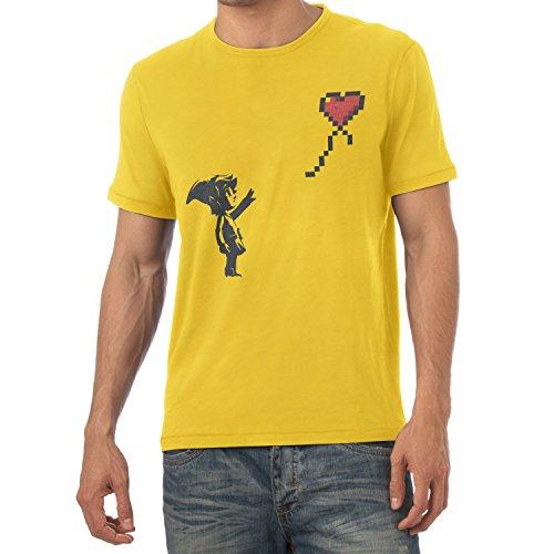 TEXLAB - Banksy Link - Herren T-Shirt, Größe S, (Kostüm Shiek Link Und)