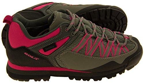 Donna Gola impermeabile Escursionismo Pattini degli addestratori Grigio e rosa