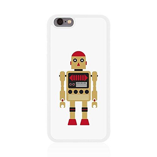 Apple iPhone 6/6s Retro robot brillant Coque arrière par Call Candy doré