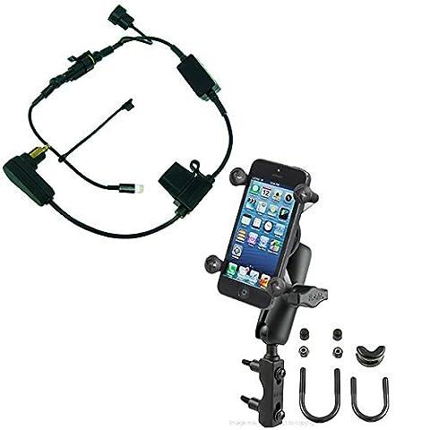 BuyBits Levier Frein Embrayage boulon en U Montage Moto Paquet pour iPhone 7 Plus avec Sous Haute Tension DIN