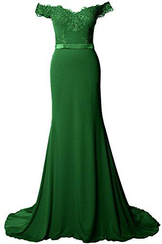 MACloth - Robe - Moulante - Sans Manche - Femme vert foncé