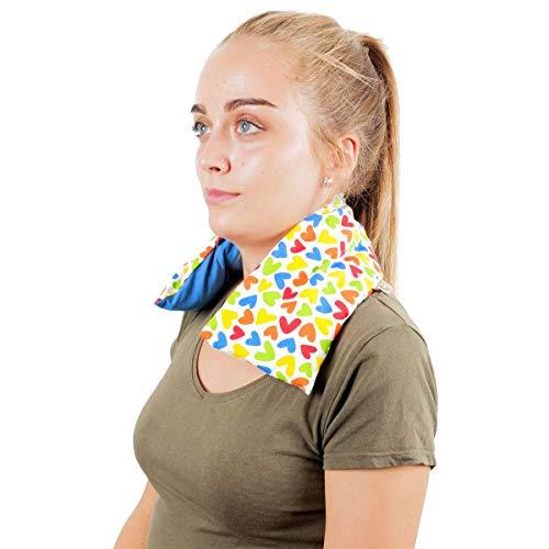 Saco Térmico Semillas Cervical - Almohada Cuello para Calentar en Microondas 50x12 cm -...