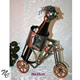 Porte bouteille métal decor motard