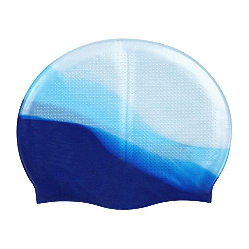 Moresave Silikon Badekappe Anti-Riss Latex Schwimmkappe Wasserdicht Sport Zubehör für Erwachsene (Frauen und Männer) (Silikon Badekappe Für Frauen)