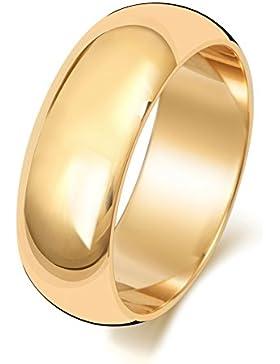 18 Karat (750) Gold 7mm D-Form Herren/Damen - Trauring/Ehering/Hochzeitsring