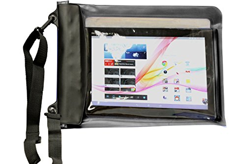 "Navitech Schwarzes Wasserfestes Case, Wasserfestes Cover für 10 Zoll Tablets Inklusive dasMEDION AKOYA MD 99566 10,1\"" Windows Tablet-PC"