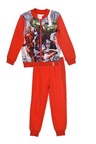 Marvel -  tuta da ginnastica - ragazzo rosso 8 anni