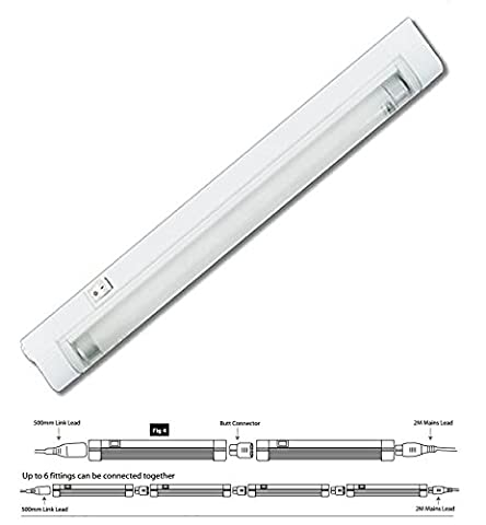 FLUORESCENT FITTING, T5 LINK, 1200MM T528LS2W By ETERNA