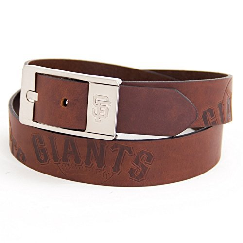 san-francisco-giants-brown-leather-brandished-belt-by-eagles-wings