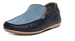 US Polo Association Mens Blue Leather Loafers and Moccasins - 9 UK/India (43 EU)