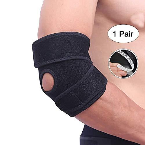 1 Paar Ellenbogen Unterstützung Unisexjustierbares Breath Brace for Sport-Verletzungen Rehabilitation Schutz gegen Wiederverletzung arthritischen Schmerzlinderung Tendonitis ( Color : Black(1 Pair) )