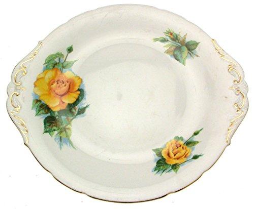 Royal Standard oder Roslyn Wheatcroft Rosen Mme CH Sauvage 26,7cm Tortenplatte Wheatcroft Rosen