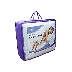 Roma Anti Allergy Microfibre Baby Toddler 9 Tog Cotbed Or Junior Bed Duvet Suitable from 12 Months Top Quality Super Soft