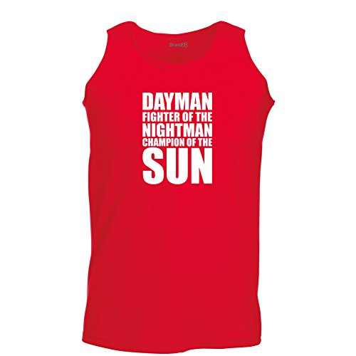 Brand88 - Dayman Fighter Of The Nightman, Unisex Athletic Weste Rot