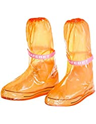 ikee reusable PVC Slip-resistant Outdoor long style waterproof rain overshoes 2pcs/set