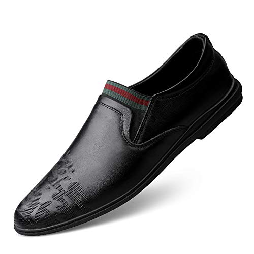 GPF-fei Herrenschuh Leder Faulschuhe Loafers Schuhe Driving Schuh Peas Schuhe Comfortable Fashion Leisure,Black,43 -