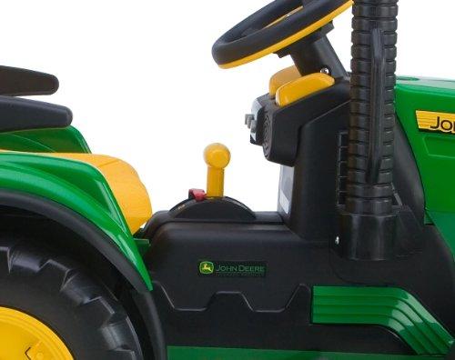 john deere ground force kinder elektro traktor von peg perego 12 volt mit anh nger alles rund. Black Bedroom Furniture Sets. Home Design Ideas