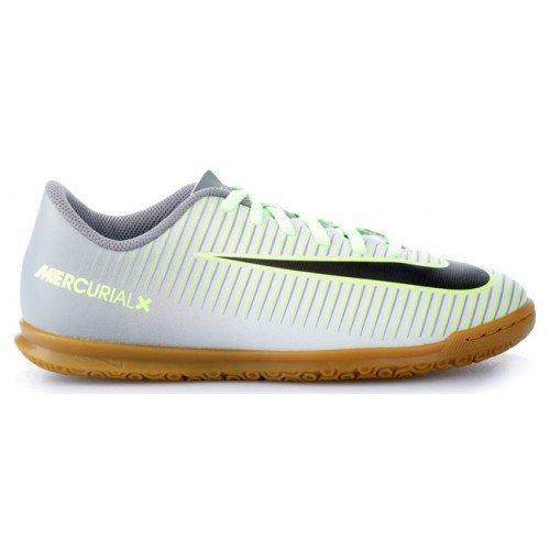 Nike JR MERCURIALX VORTEX III IC - Scarpe da ginnastica Bambino, Argento, 36
