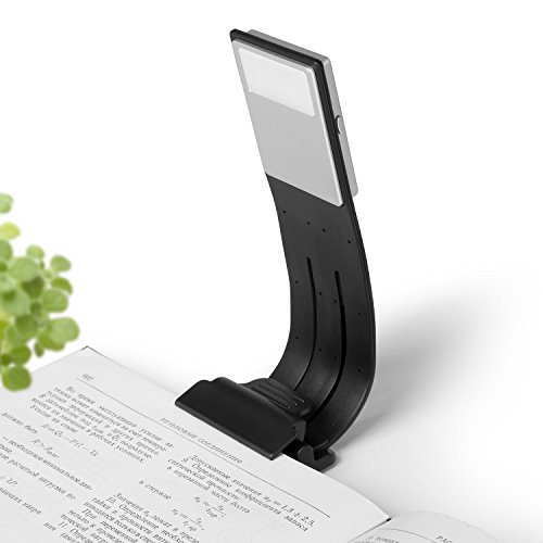 Foto de Ayotu clip-on LED Luz de Lectura lámpara de luz flexible de brazo E-Reader con 4 niveles de brillo de con USB Recargable para eBook Readers, Libros Electrónicos,Tablet, iPad, portátiles etc (negro)
