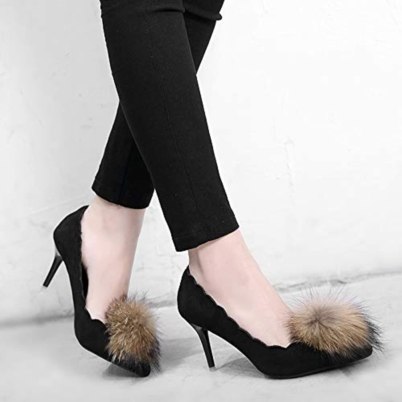 HRCxue Tacco a Spillo Scarpe da Donna Sexy con Tacco Alto, Nere, 35 | Prezzo speciale  | Scolaro/Ragazze Scarpa