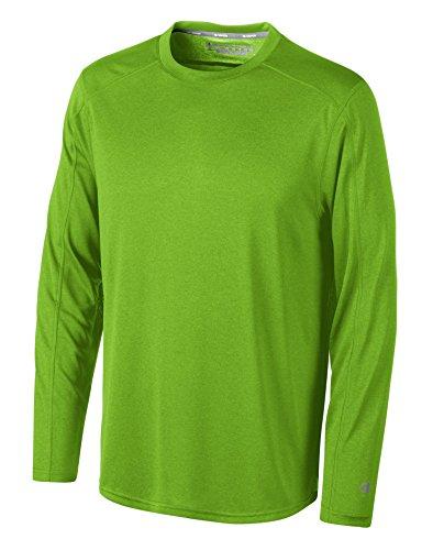 Champion CV26 Vapor Long Sleeve T Shirt Bright Green Heather