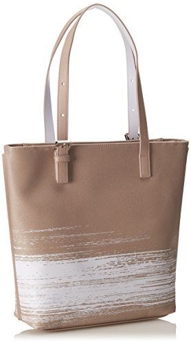 Calvin Klein - MELISSA BRUSHED NS TOTE, Borse da donna BEACH/WHITE