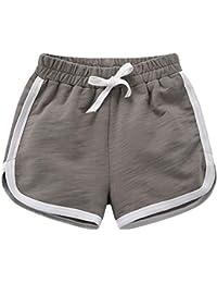 Pantalones Cortos Deportivos Niño Niña Cintura Elástica Shorts de Verano Playa