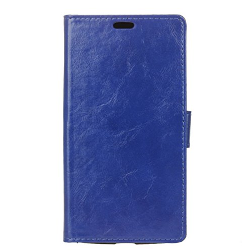 Crazy Handy-fällen (Lenovo Moto G5 Plus Hülle,QUENJOY® Stand Brieftasche Flip Case Schutzhülle Crazy Horse Leder Etui Ultra Slim zu Schützen für Motorola/Lenovo Moto G5 Plus (5,2 Zoll),Blau 01)