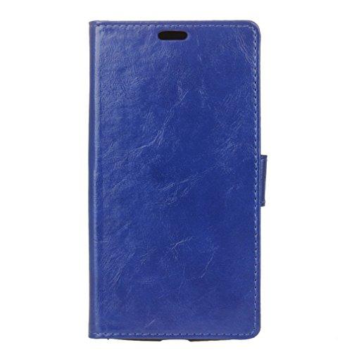 Wendapai Wiko View XL Brieftasche Hülle, Stylish schlank PU Leder Schützt Stand and Karte Holders Replacement Schutz Hülle zum Wiko View XL -Blue (Switch Light Custom)