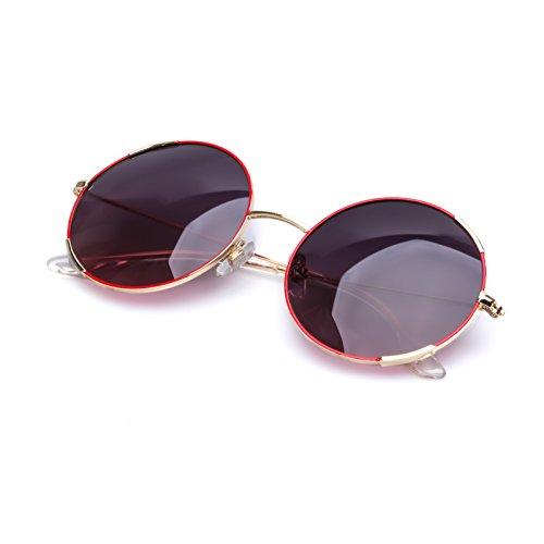 COLOSSEIN arancione marchio di moda gli occhiali da sole, struttura in metallo polarizzatE lente, il 100% di protezione UV400