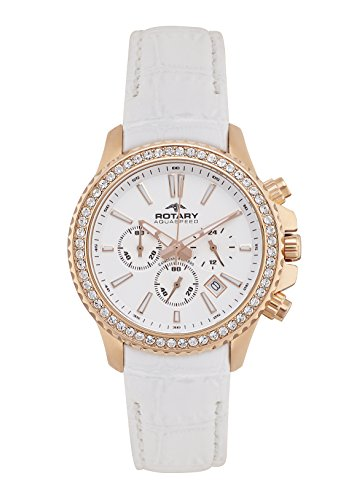 Rotary-ALS00088/C/01 Women's Watch Quartz Chronograph Leather Strap